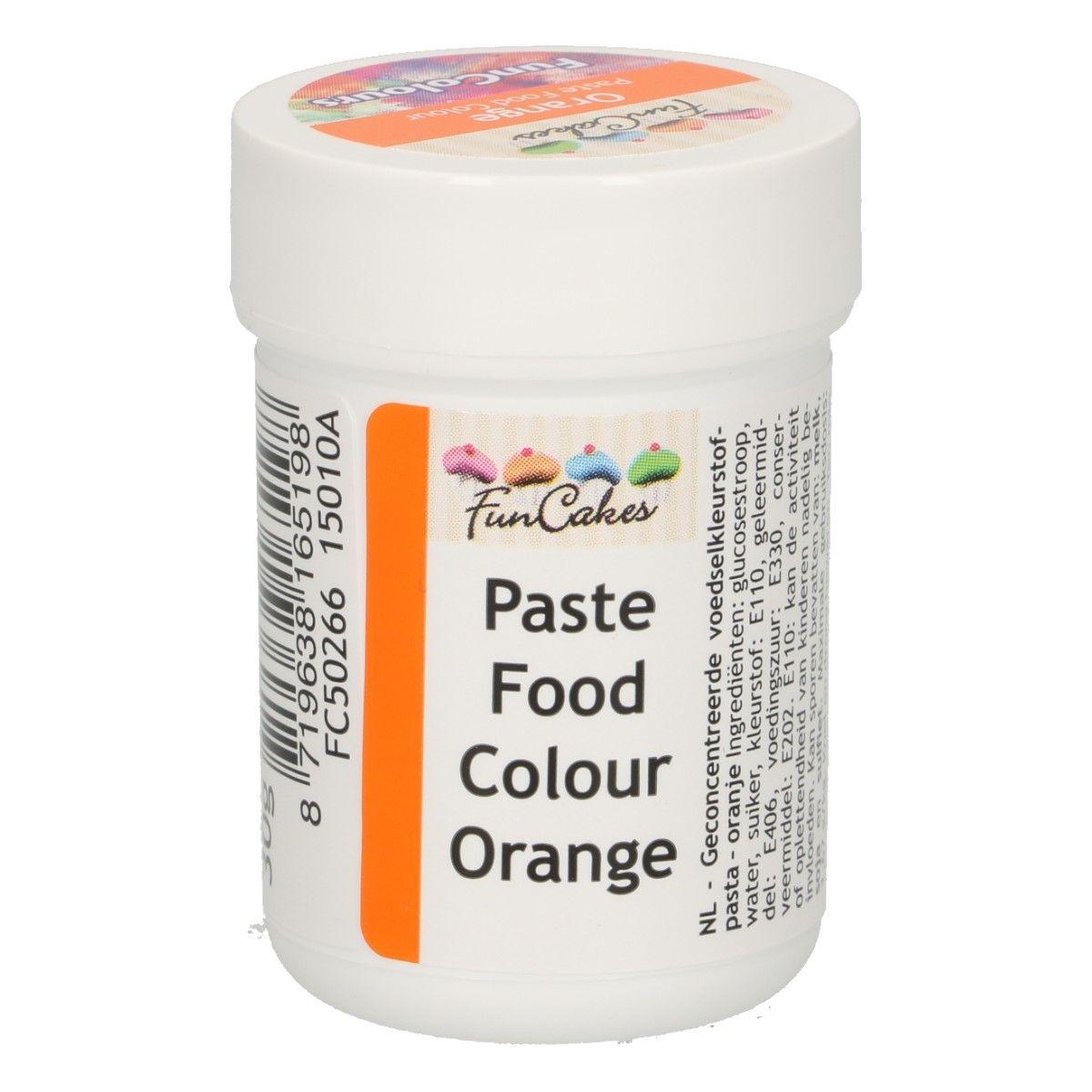 Funcakes FunColours Paste Food Colour - Orange 30 g