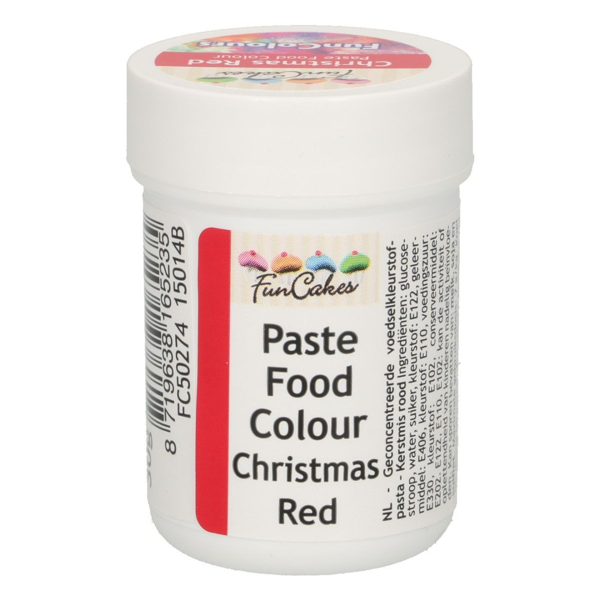Funcakes FunColours Paste Food Colour - Christmas Red 30 g