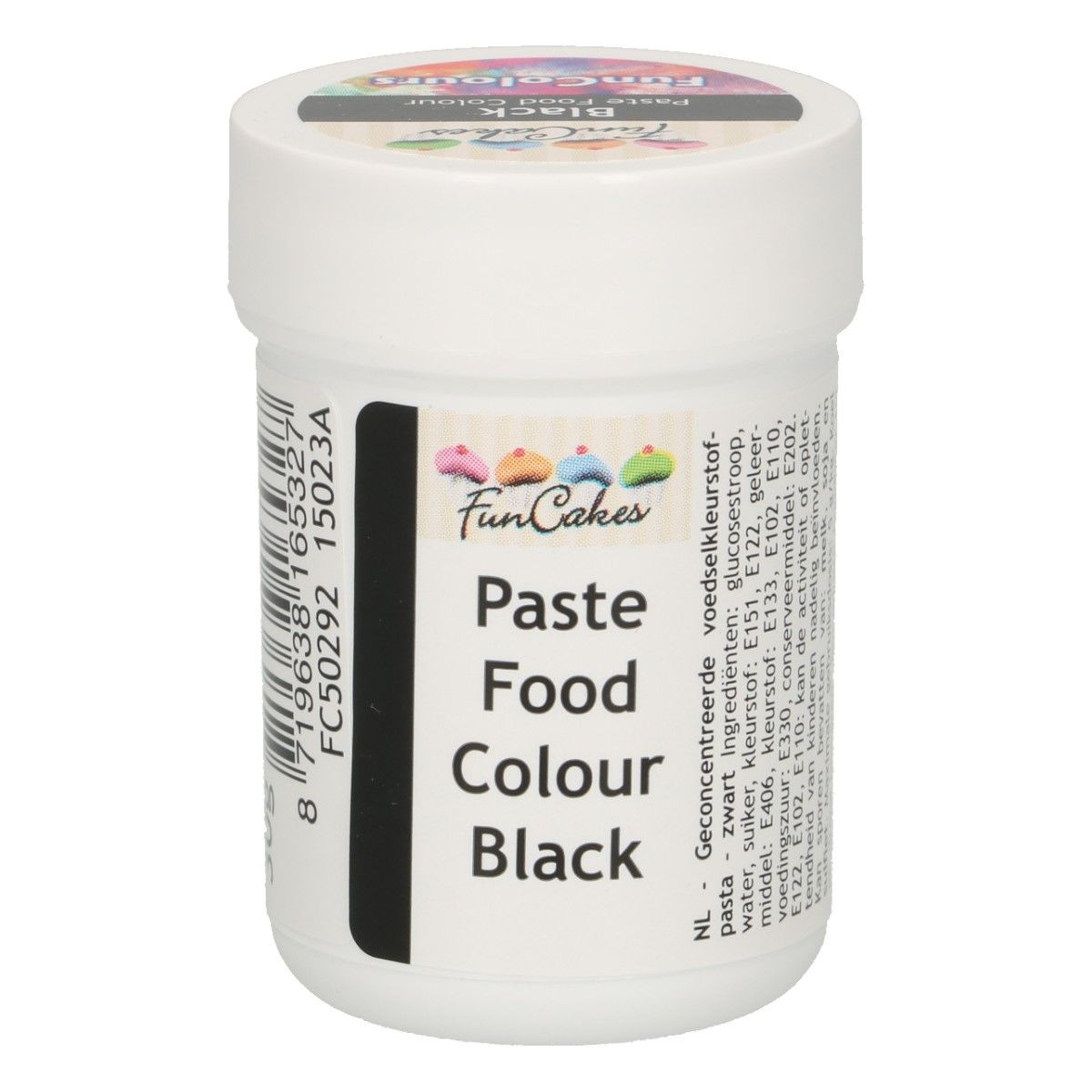 Funcakes FunColours Paste Food Colour - Black/Schwarz 30 g