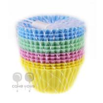 Silikonbackform Cupcakes Pastell, 12 Stück