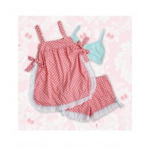 Baby Doll Pink & White Polka Dots Größe Medium