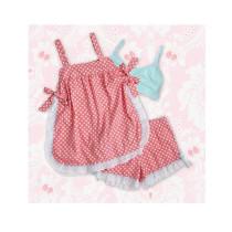Baby Doll Pink & White Polka Dots Größe Medium