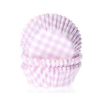 Muffinförmchen klein Rosa kariert, 60 Stück