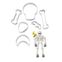 Ausstecher Skelett Set, 6 teilig