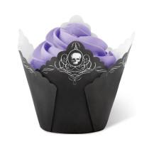 Muffin Wrap Skull schwarz, 15 Stück