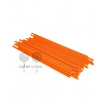 Kunststoff Lollipop Sticks Orange 19 cm, 25 Stück