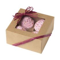 Cupcakes Box Natur, 3 Stück