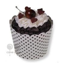 Papiergeschenkbox als Cupcakes Schokotörtchen