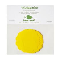 Papierreiter Kreis gewellt uni Gelb, 12 Stück