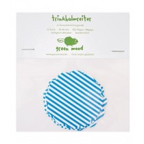 Papierreiter Kreis gewellt Streifen Blau, 12 Stück