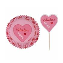 Muffinförmchen Valentine, 24 Stück