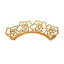 Muffinmanschette Rosen, 12 Stück