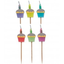 Minikerzen Cupcakes, 6 Stück