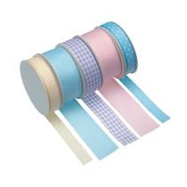 Pastellbänder sortiert, 5 Stück