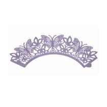 Muffinmanschette Schmetterling Violett, 12 Stück