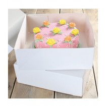 Weiße Kuchen Box 32cm x 11,5cm, 2 Stück