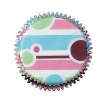 Muffinförmchen Bubble Stripes, 75 Stück