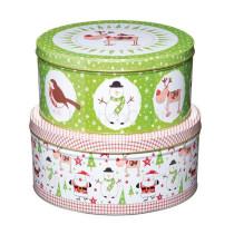 Weihnachts Kuchendosen-Set, 2 Stück