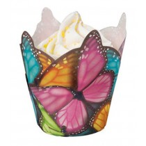 Muffin Wrap Schmetterlinge Bunt, 15 Stück