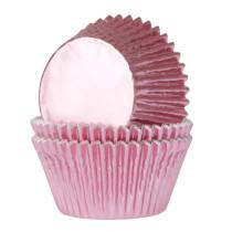 Muffinförmchen Metall Baby Pink, 24 Stück