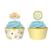 Muffinmanschette Baby-Eulenparty, 12 Stück