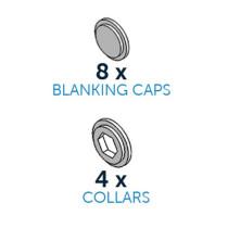 Blindkappen & Collars, 12-teilig
