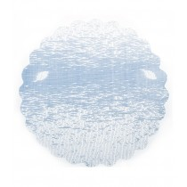 Grobgewebter Tüll Hellblau 21 cm, 5 Stück