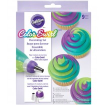 ColorSwirl Tri-Color Coupler Decorating Set, 9-teilig