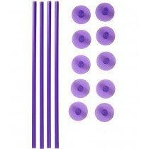 Plastic Support Rods and Caps, 14 Stück