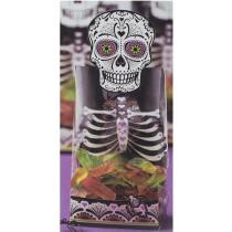 Tüte Skelett mit Totenkopfverschluß, 6 Stück