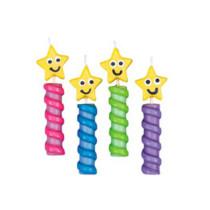 Kerzen Chunky Candles Star, 4 Stück