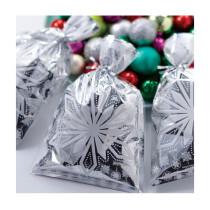 Silberfolien Tüte Schneeflocke, 8 Stück