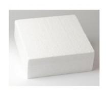 Dummie aus Styropor, quadratisch, 25 x 25 x 7,5 cm