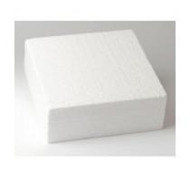 Dummie aus Styropor, quadratisch, 15 x 15 x 7,5 cm