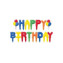 Kerzen Happy Birthday Buchstaben, 15 Stück
