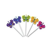 Minikerzen Schmetterlinge, 5 Stück