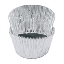 Muffinförmchen Metall Silber, 24 Stück