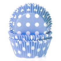 Muffinförmchen Hellblau gepunktet, 50 Stück