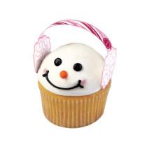 Pix als Ohrenschützer für Ihre Schneemann-Cupcakes - 12 Stück