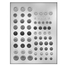 Pralinenform Vintage Button Knöpfe