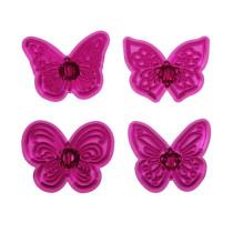 Fondant Ausstecher Schmetterlinge Phantasie, 4-teilig