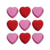 Silikonbackform Mini Cupcake Herz, 12 Stück