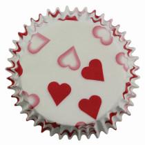 Muffinförmchen Rote Herzen