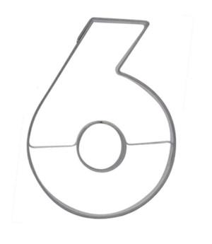 Ausstecher Nummer 6, 6,5cm