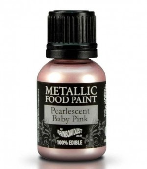 RD Metallic Food Paint Pearlescent Baby Pink