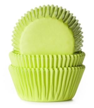 Muffinförmchen Limonengrün, 50 Stück