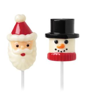 Marshmallow- Lutscherform Schneemann & Santa