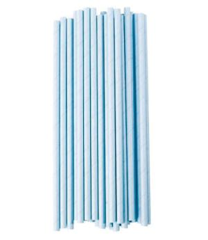 Trinkhalme Hellblau, 25 Stück
