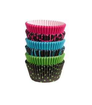 Muffinförmchen Set Multi Neon Dark, 150 Stück