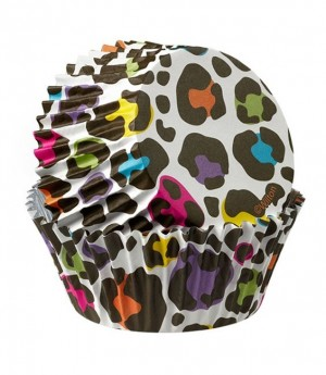 Muffinförmchen Leopard Bunt, 36 Stück